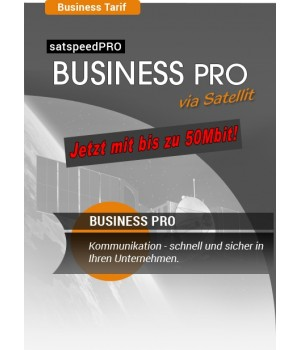 satspeedPRO Business PRO 50 Mbit download und 10 Mbit upload Internet via Satellit Tarif
