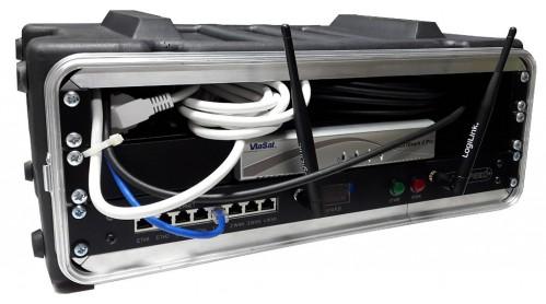 "satspeedPRO 19"" mobile elektronik case offen inkl. Kabel"