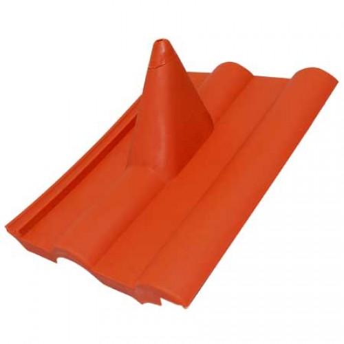 Dachpanne (rot) für Frankfurter Dachpfanne