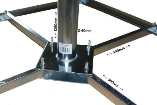 Bodenständer für 4 Gehwegplatten