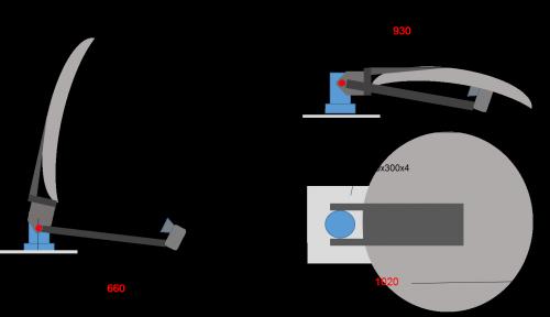satspeedPRO mobile drive away II Antenne Abmessungen