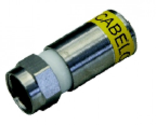 F-Connector compression for RG6 Trishielded cable