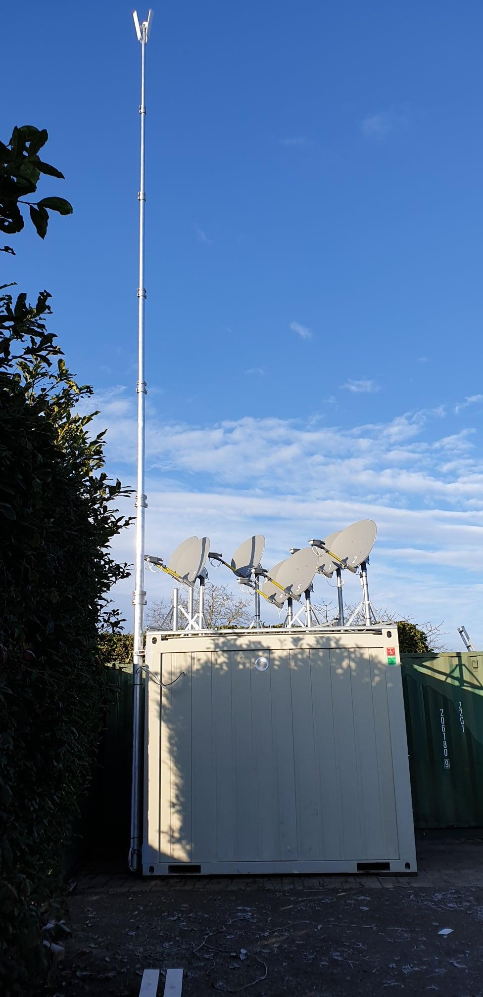 satspeed WiFi Ortsnetzausbau WLAN Basis Mast